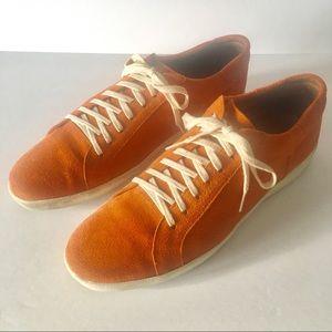 Donald J. Pliner Orange Suede Sneakers Size 12